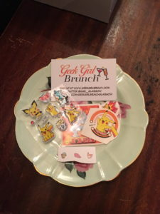 The Pokébrunch goodies that greeted us on arrival